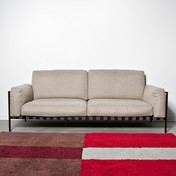 Zanotta - Parco Outdoor 2-Sitzer Sofa - braun/Gestell schwarz lack/Stoff Talasso 26090
