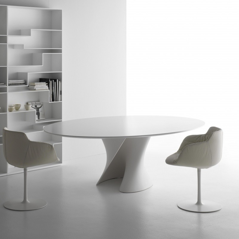 Mdf italia s table esstisch gestell wei ambientedirect for Mdfitalia it