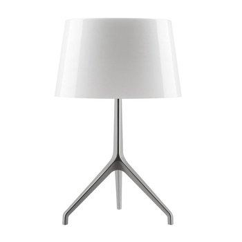 Foscarini - Lumiere XXS Aluminium Tischleuchte - weiß/Gestell Aluminium/H 40cm/Ø 26cm