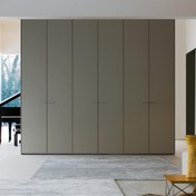 Molteni & C - Gliss 5th Kleiderschrank - dune beige/Innenausstattung perle weiß/6 Böden, 3 Kleiderstangen