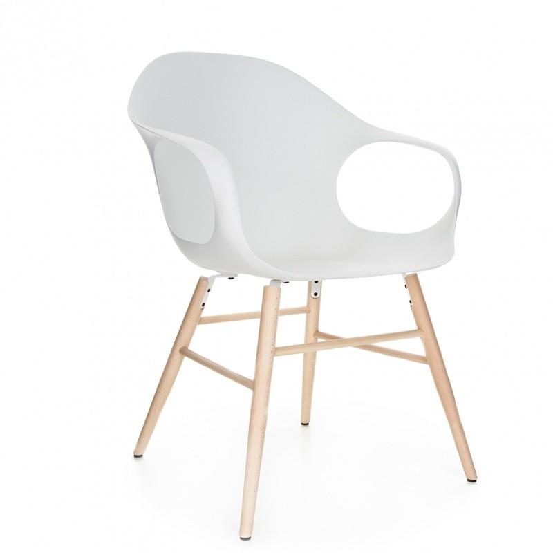 elephant armleunstoel met houten onderstel kristalia. Black Bedroom Furniture Sets. Home Design Ideas