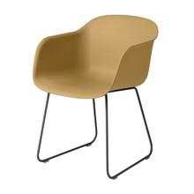 Muuto - Fiber Chair Armlehnstuhl mit Kufengestell
