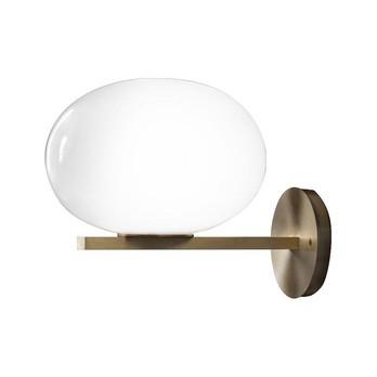 Oluce - Alba 176 Wandleuchte - messing/opal/glänzend/LxBxH 33x26x13cm