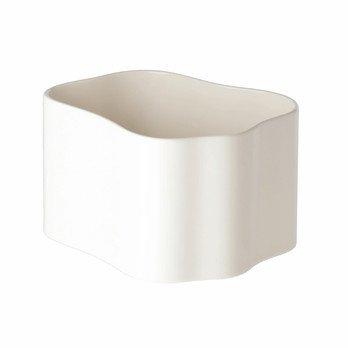 Artek - Artek Riihitie Pflanztopf Form B - weiß/glänzend/LxBxH 19x16x12cm