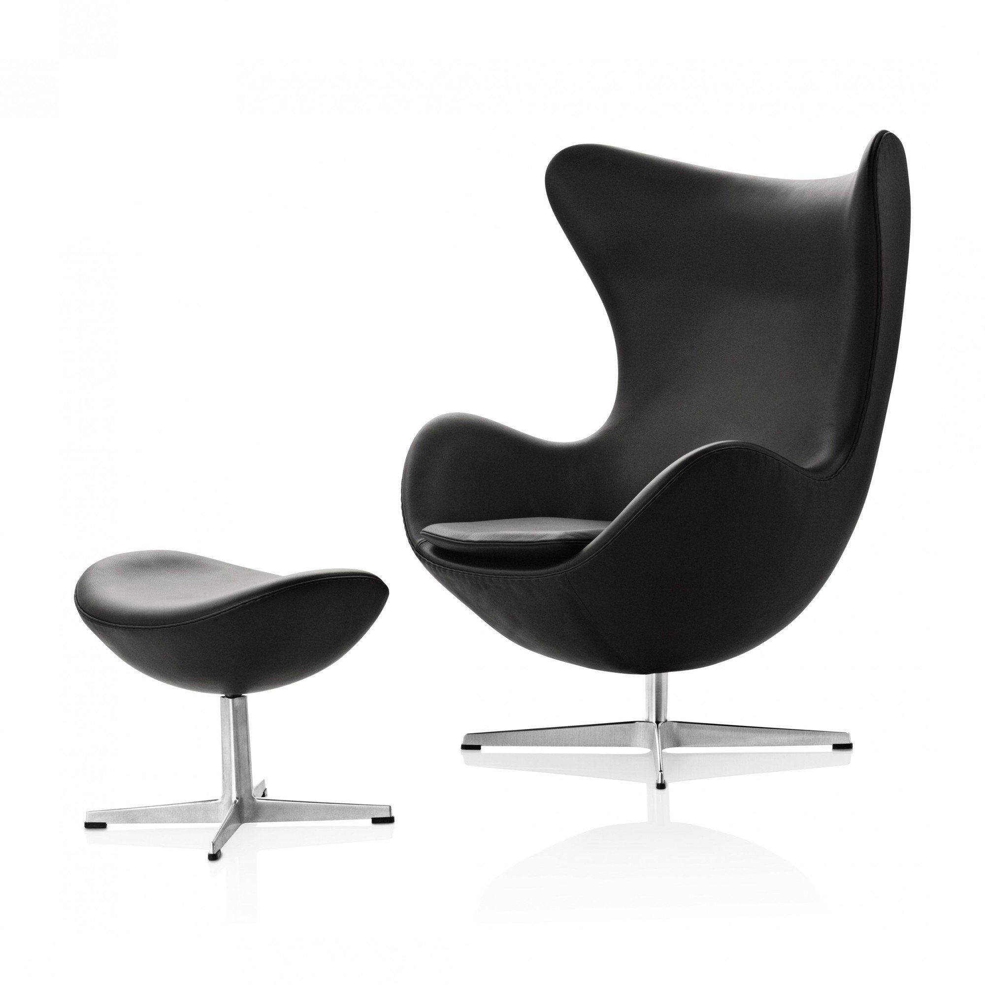 fritz hansen egg chair das ei fu hocker leder ambientedirect. Black Bedroom Furniture Sets. Home Design Ideas