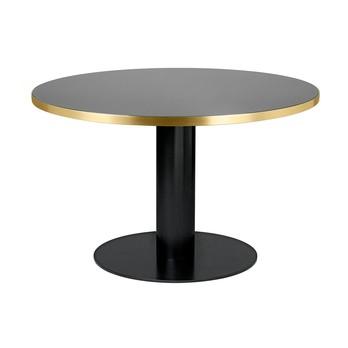 Gubi - 2.0 Dining Table Gestell schwarz Ø125cm