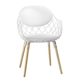Magis - Piña chair - fabric - white/lacquered/frame ash tree/fabric Star