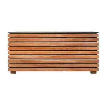 Conmoto - Forte Kissentruhe L - natur/anthrazit/Kambala-Holz (Teak ähnlich)/171x91x69cm