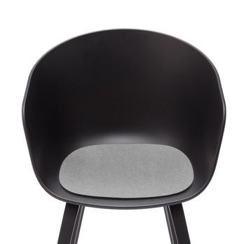 Hey-Sign - Sitzauflage About a Chair antirutsch - hellgrau meliert/Filz
