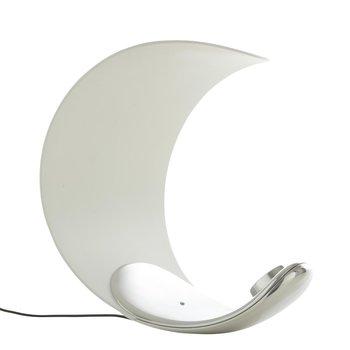 Luceplan - Curl LED-Tischleuchte  - weiß/silber/Lichtfarbe 3000K/330lm