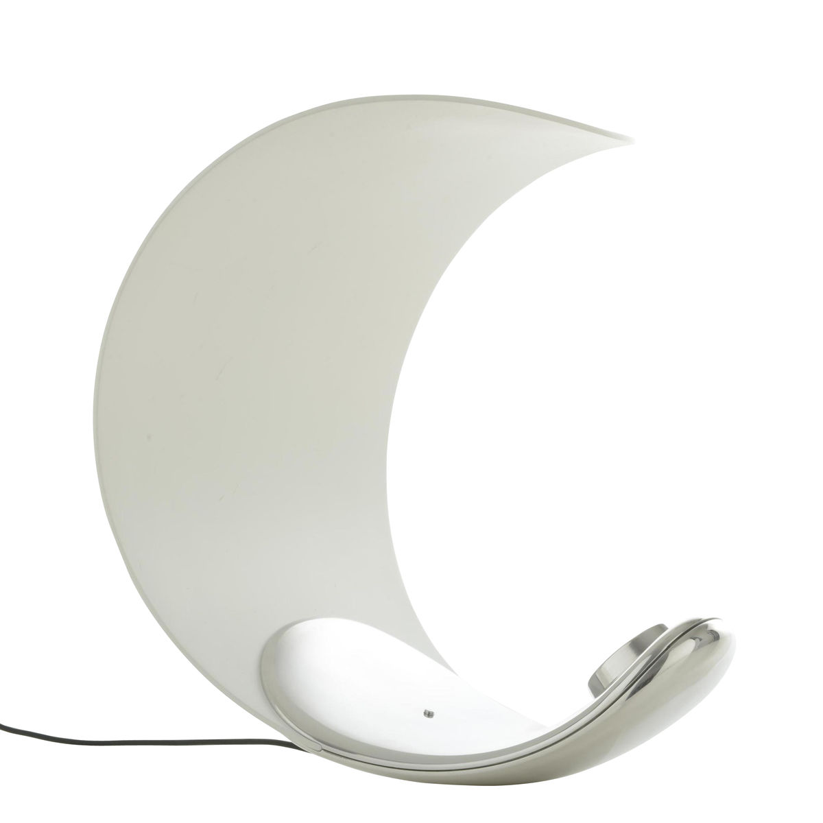 curl led table lamp  luceplan  ambientedirectcom - luceplan  curl led table lamp  whitesilverlightcolor klm