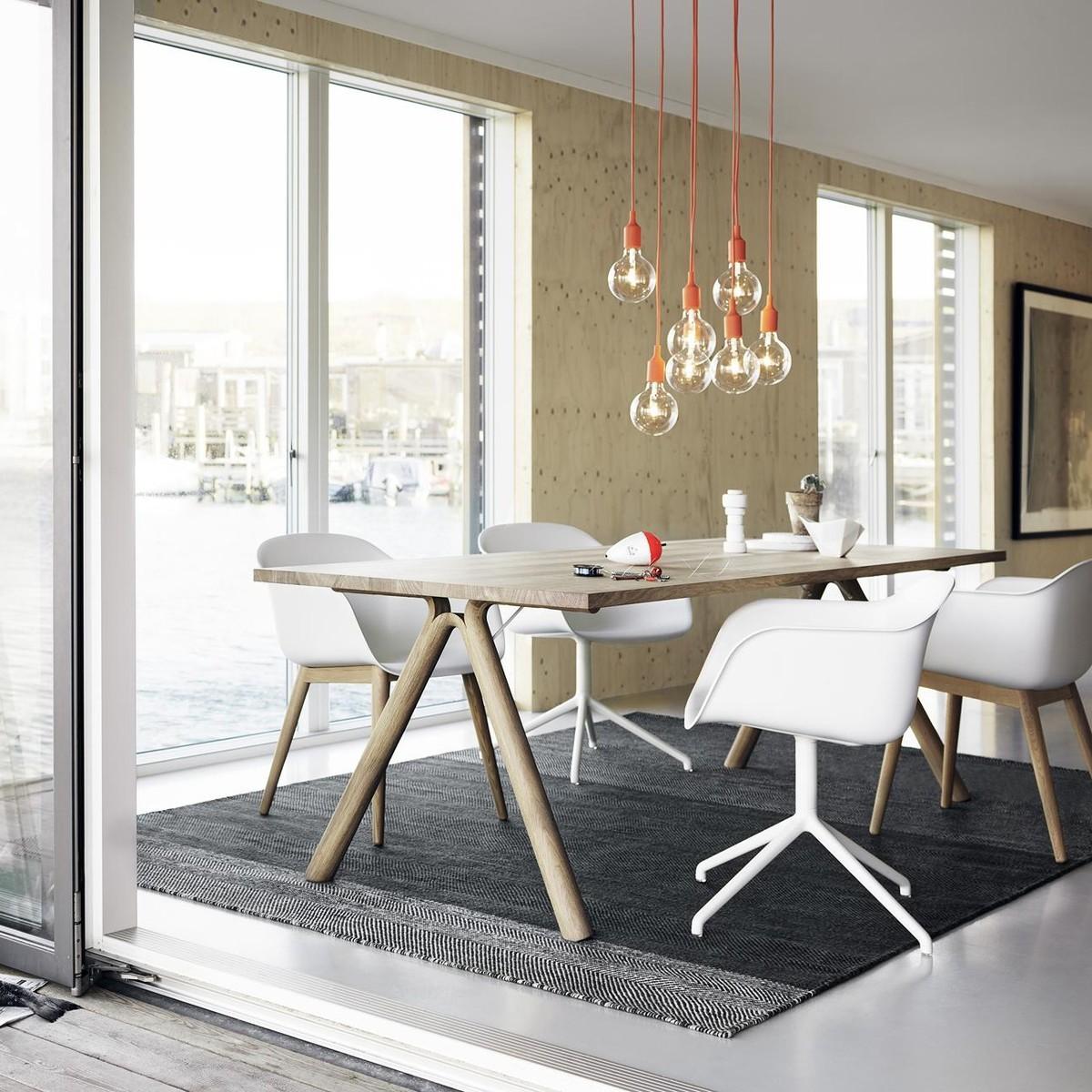 fiber chair armlehnstuhl mit holzgestell muuto. Black Bedroom Furniture Sets. Home Design Ideas