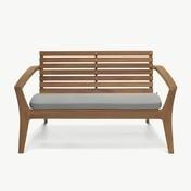 Skagerak - Regatta Sitzkissen - dunkelgrau/Barriere® Liso/110x48,5x5cm