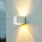 lumini - Kube HALO Wandleuchte - weiß/Metall