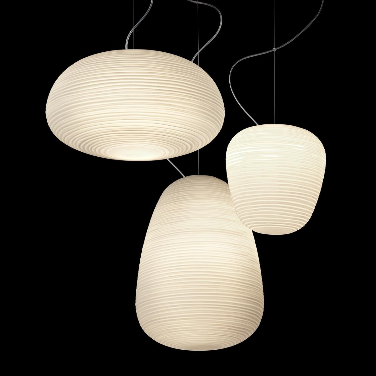 Rituals suspension lamp foscarini for Lampe suspension blanche