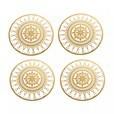 Driade - Italic Lace Round Coaster Untersetzer 4tlg. - gold/4 Stück/Ø 10cm