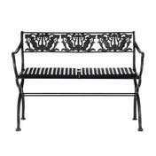 TECTA - D60-2 Schinkel-Gartenbank - schwarz/lackiert/110x78x52 cm/ohne Sitzkissen