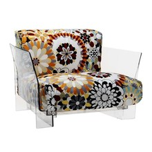 Kartell - Fauteuil Pop Missoni structure transparent