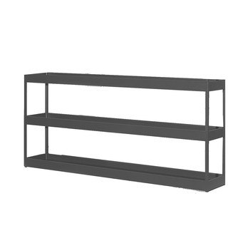 HAY - New Order Tray-Regal 200x90cm - charcoal dunkelgrau/lackiert