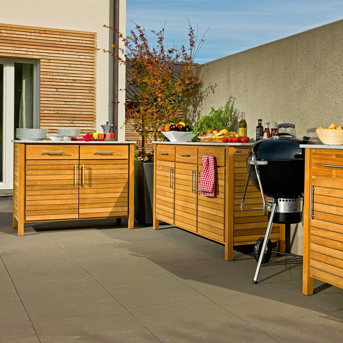 Deck Outdoorküche 3er Element | Weishäupl | Ambientedirect
