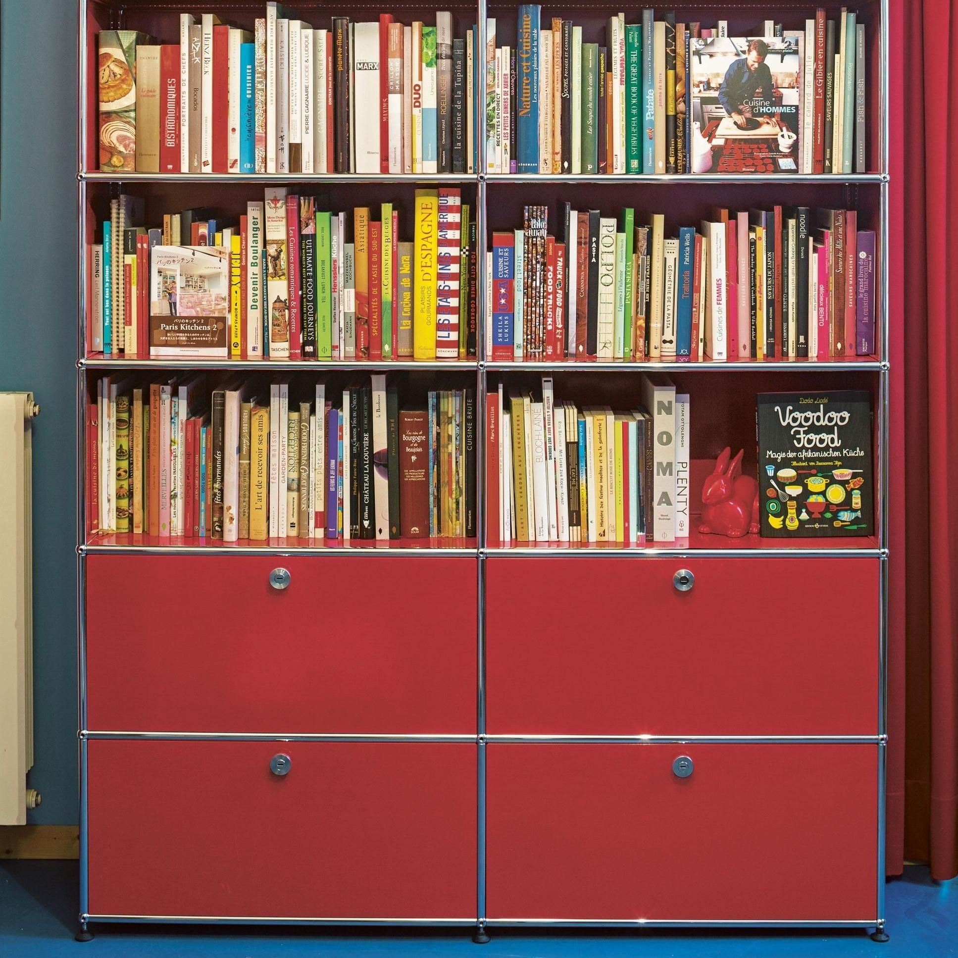 usm haller usm regal mit 3 f chern 2 klappt ren. Black Bedroom Furniture Sets. Home Design Ideas