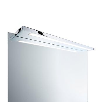 Decor Walther - Slim 1-34 LED Spiegelleuchte - chrom/Acrylglas satiniert/3000K/644lm/LxBxH 34x10x2cm