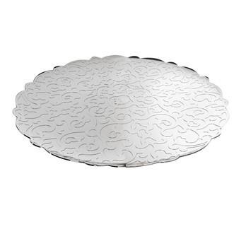 Alessi - Dressed Tablett rund - edelstahl/glänzend poliert/Ø 35cm