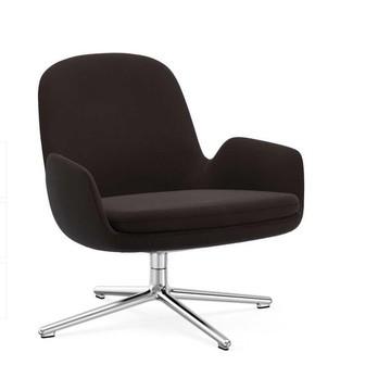 Normann Copenhagen - Era Lounge Chair Low Drehstuhl Alu - schwarz Stoff Fame 61044/Gestell aluminium/H x B x T: 77 x 83 x 83 cm