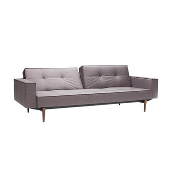 Innovation   Splitback Wood Sofa Bed With Armrests   Dark Grey/frame ...