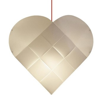 Le Klint - Heart X-Large Red Pendelleuchte - weiß/Textilkabel rot/BxH 81x78cm