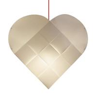 Le Klint - Heart Red Suspension Lamp