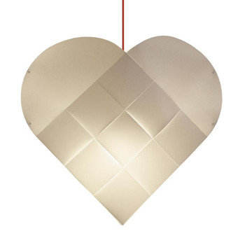 - Heart X-Large Red Pendelleuchte - weiß/Textilkabel rot/BxH 81x78cm