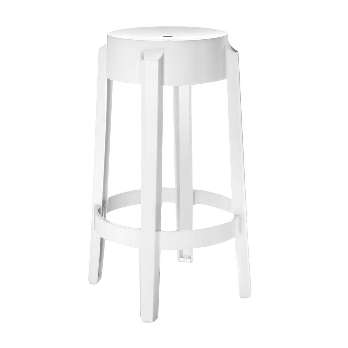 charles ghost stool cm  kartell  ambientedirectcom - kartell  charles ghost stool cm  whitesolidseat height cm