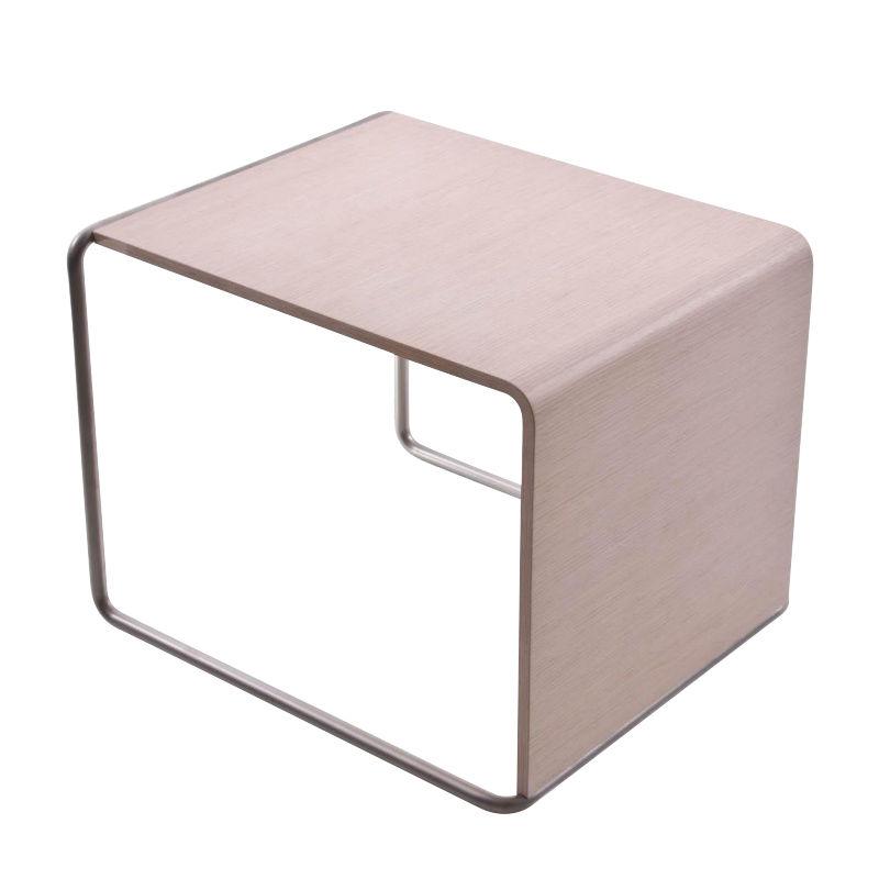 La Palma   Ueno Side Table/Stool   Oak Blanched/Holz/LxWxH 41x45x35cm