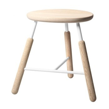 &tradition - Raft Stool NA3 Hocker - natur eiche/weiß/gebürstet