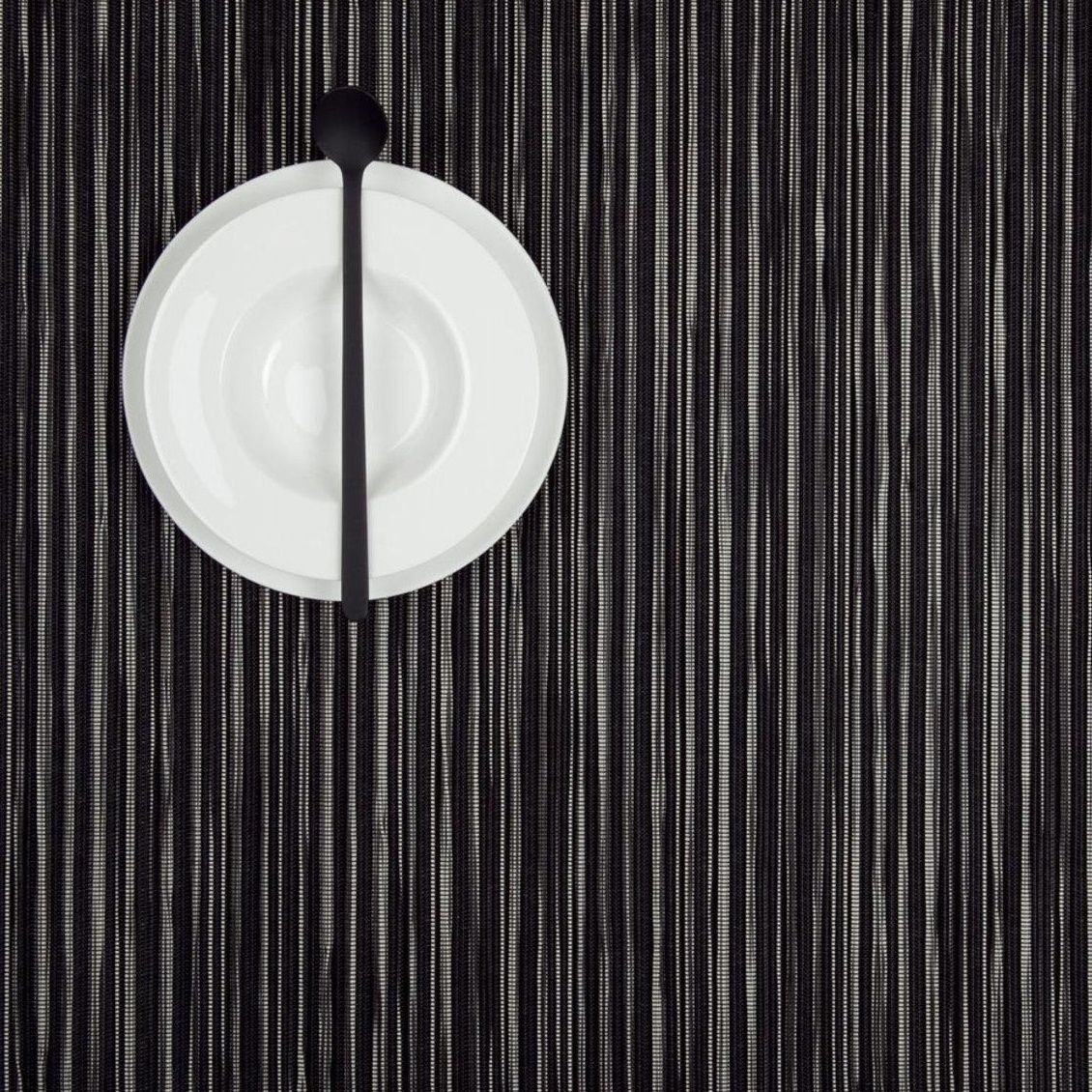 chilewich rib weave placemat set of 2 36x48cm black2 pieces