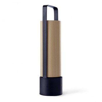 LZF Lamps - Piknik Tragbare Gartenleuchte - birke/Gestell schwarz/H x Ø: 37 x 9.8cm/Touch sensor Dimmer