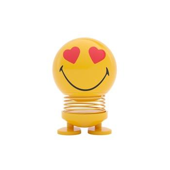- Hoptimist Baby Smiley Love Wackelfigur - gelb/glänzend/H 8cm/Ø 5cm/mit Federmechanismus