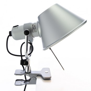 Artemide - Tolomeo Pinza LED - aluminium/eloxiert/poliert/3000K/450lm/BxH 18x23cm