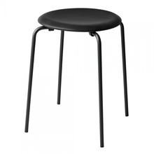 Fritz Hansen - Fritz Hansen DOT™ Stool Leather Black Base