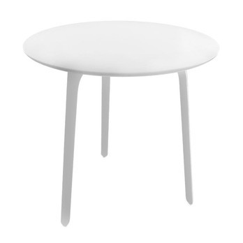 Magis - Table First Tisch Rund - Tischplatte MDF weiß/weiße Tischbeine/Größe 1/Ø80cm