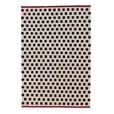 Nanimarquina - Mélange Pattern 3 Kilim / Wollteppich - schwarz-weiß- rot/170x240cm