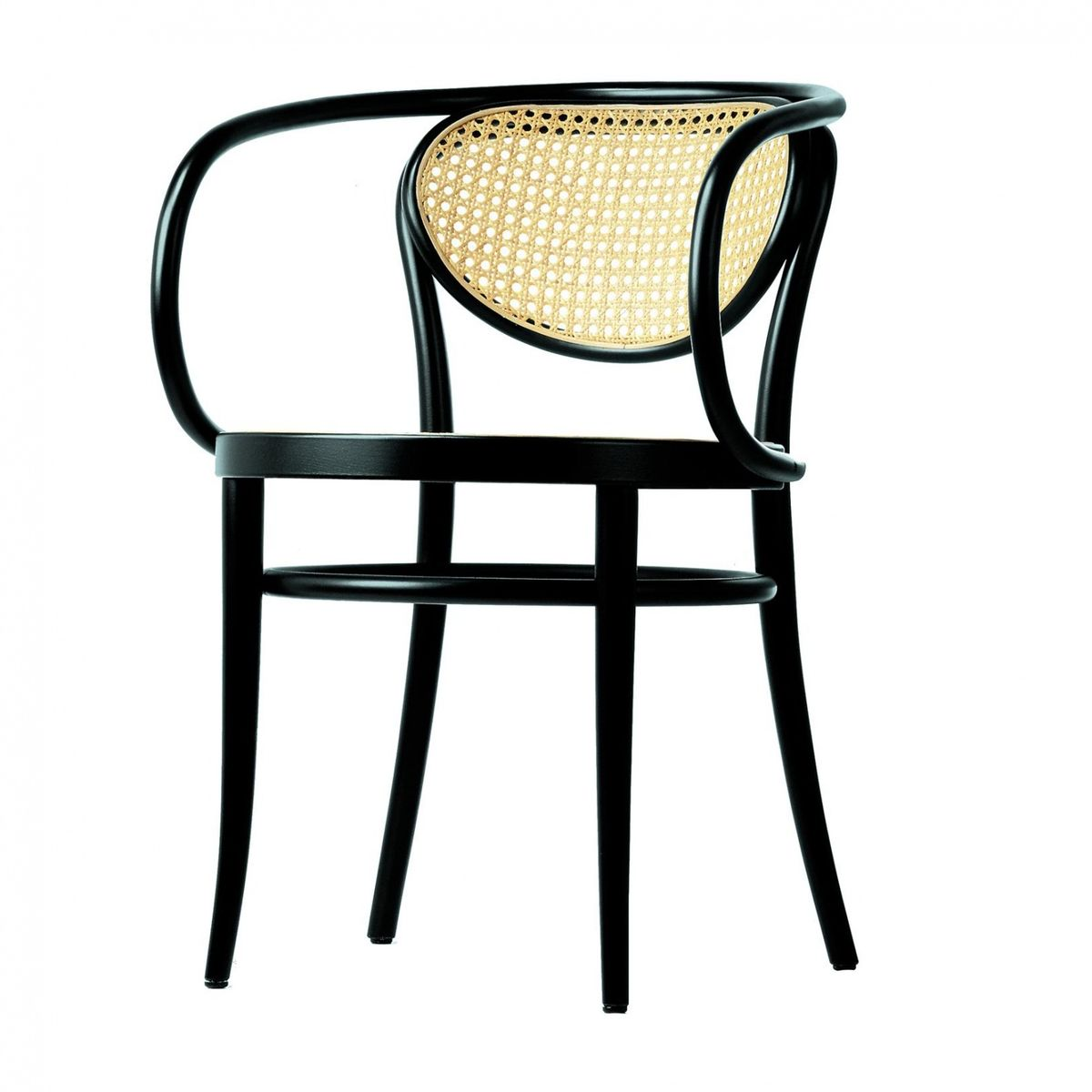 Thonet   Thonet 210 R Armchair   Black/cane With Mesh Reinforcement/on Seat