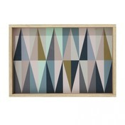 ferm LIVING - Spear Tablett klein - multicolor/30x20cm