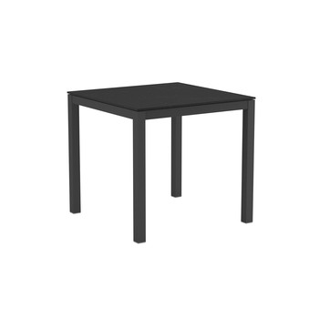 - Taboela 80 Gartentisch Gestell Aluminium - schwarz/Tischplatte Keramik/Gestell aluminium schwarz/LxBxH 80x80x68.5cm