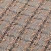 GAN - Garden Layers Checks Teppich 90x200cm - terrakotta/Handwebstuhl