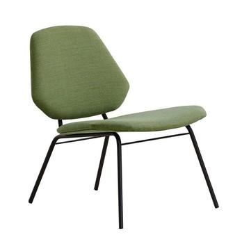 Woud - Lean Lounge Chair Sessel - grün/Stoff Remix2color933/H x B x T: 72 x 64 x 66cm/Gestell schwarz
