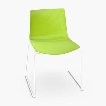 - Catifa 46 0278 Stuhl einfarbig Kufe weiß -