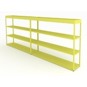 HAY - New Order Sideboard mit Tray 300x115cm - gelb/lackiert/mit 2 Top Trays