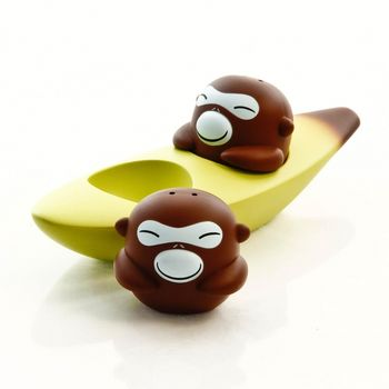 Alessi: Hersteller - Alessi - Banana Bros Salz- und Pfefferstreuer Set